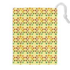 Tropical Fish Yellow Drawstring Pouches (xxl)