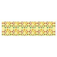 Tropical Fish Yellow Satin Scarf (oblong)