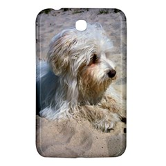 Maltese On Beach Samsung Galaxy Tab 3 (7 ) P3200 Hardshell Case