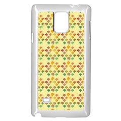 Tropical Fish Yellow Samsung Galaxy Note 4 Case (white)
