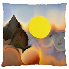 Beach Large Cushion Case (two Sides)