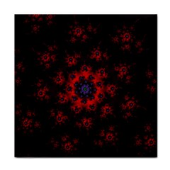 Fractal Abstract Blossom Bloom Red Tile Coasters