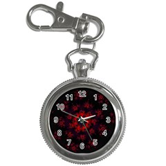 Fractal Abstract Blossom Bloom Red Key Chain Watches
