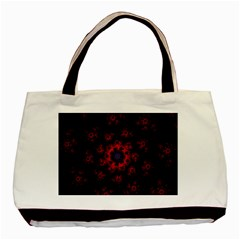 Fractal Abstract Blossom Bloom Red Basic Tote Bag