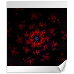 Fractal Abstract Blossom Bloom Red Canvas 8  X 10