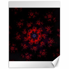 Fractal Abstract Blossom Bloom Red Canvas 12  X 16