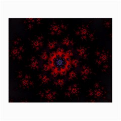Fractal Abstract Blossom Bloom Red Small Glasses Cloth (2 Side)