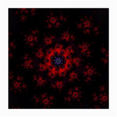 Fractal Abstract Blossom Bloom Red Medium Glasses Cloth