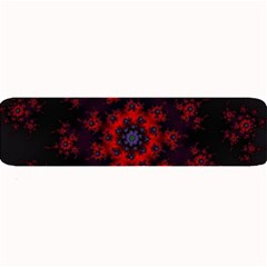 Fractal Abstract Blossom Bloom Red Large Bar Mats