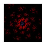 Fractal Abstract Blossom Bloom Red Face Towel Front