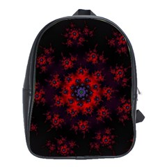 Fractal Abstract Blossom Bloom Red School Bags(large)