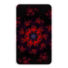 Fractal Abstract Blossom Bloom Red Memory Card Reader