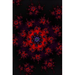 Fractal Abstract Blossom Bloom Red 5 5  X 8 5  Notebooks