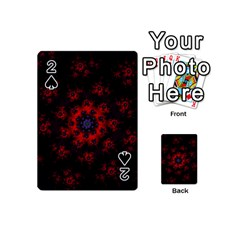 Fractal Abstract Blossom Bloom Red Playing Cards 54 (mini)