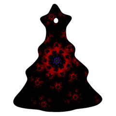 Fractal Abstract Blossom Bloom Red Ornament (christmas Tree)