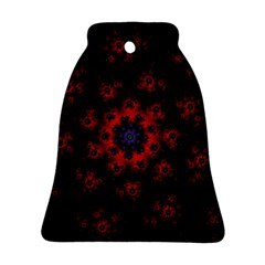 Fractal Abstract Blossom Bloom Red Bell Ornament (two Sides)