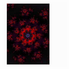 Fractal Abstract Blossom Bloom Red Large Garden Flag (two Sides)