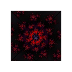Fractal Abstract Blossom Bloom Red Acrylic Tangram Puzzle (4  X 4 )