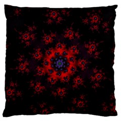 Fractal Abstract Blossom Bloom Red Large Cushion Case (two Sides)