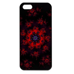 Fractal Abstract Blossom Bloom Red Apple Iphone 5 Seamless Case (black)