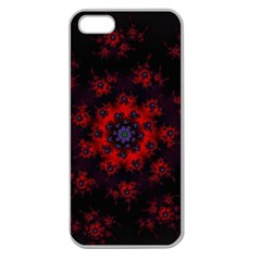 Fractal Abstract Blossom Bloom Red Apple Seamless Iphone 5 Case (clear)