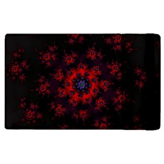 Fractal Abstract Blossom Bloom Red Apple Ipad 3/4 Flip Case