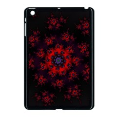 Fractal Abstract Blossom Bloom Red Apple Ipad Mini Case (black)