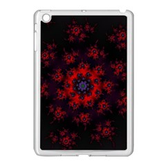 Fractal Abstract Blossom Bloom Red Apple Ipad Mini Case (white)