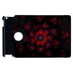 Fractal Abstract Blossom Bloom Red Apple Ipad 3/4 Flip 360 Case