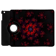 Fractal Abstract Blossom Bloom Red Apple Ipad Mini Flip 360 Case