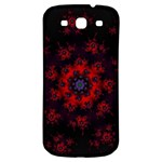 Fractal Abstract Blossom Bloom Red Samsung Galaxy S3 S III Classic Hardshell Back Case Front
