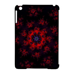 Fractal Abstract Blossom Bloom Red Apple Ipad Mini Hardshell Case (compatible With Smart Cover)