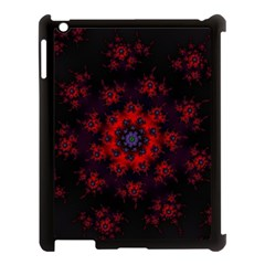 Fractal Abstract Blossom Bloom Red Apple Ipad 3/4 Case (black)
