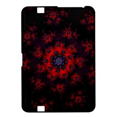 Fractal Abstract Blossom Bloom Red Kindle Fire Hd 8 9