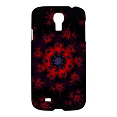 Fractal Abstract Blossom Bloom Red Samsung Galaxy S4 I9500/i9505 Hardshell Case