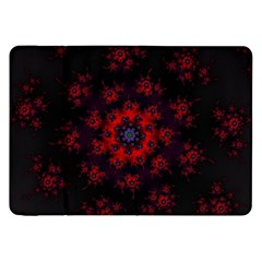Fractal Abstract Blossom Bloom Red Samsung Galaxy Tab 8 9  P7300 Flip Case