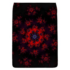 Fractal Abstract Blossom Bloom Red Flap Covers (l)