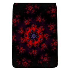 Fractal Abstract Blossom Bloom Red Flap Covers (s)