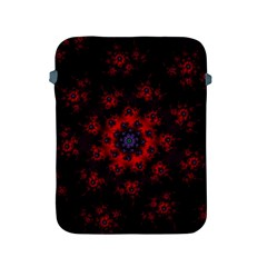 Fractal Abstract Blossom Bloom Red Apple Ipad 2/3/4 Protective Soft Cases