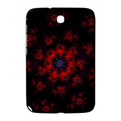Fractal Abstract Blossom Bloom Red Samsung Galaxy Note 8 0 N5100 Hardshell Case