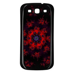Fractal Abstract Blossom Bloom Red Samsung Galaxy S3 Back Case (black)