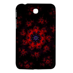 Fractal Abstract Blossom Bloom Red Samsung Galaxy Tab 3 (7 ) P3200 Hardshell Case