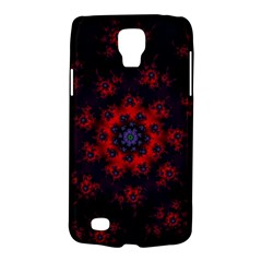 Fractal Abstract Blossom Bloom Red Galaxy S4 Active