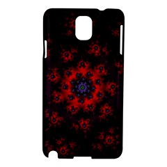 Fractal Abstract Blossom Bloom Red Samsung Galaxy Note 3 N9005 Hardshell Case