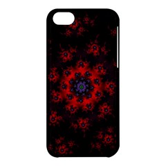 Fractal Abstract Blossom Bloom Red Apple Iphone 5c Hardshell Case