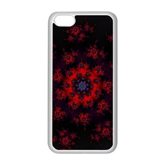 Fractal Abstract Blossom Bloom Red Apple Iphone 5c Seamless Case (white)