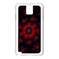 Fractal Abstract Blossom Bloom Red Samsung Galaxy Note 3 N9005 Case (white)