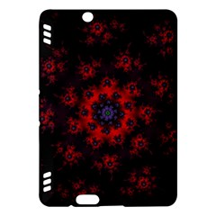 Fractal Abstract Blossom Bloom Red Kindle Fire Hdx Hardshell Case