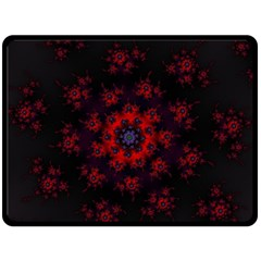 Fractal Abstract Blossom Bloom Red Double Sided Fleece Blanket (large)
