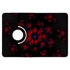 Fractal Abstract Blossom Bloom Red Kindle Fire Hdx Flip 360 Case
